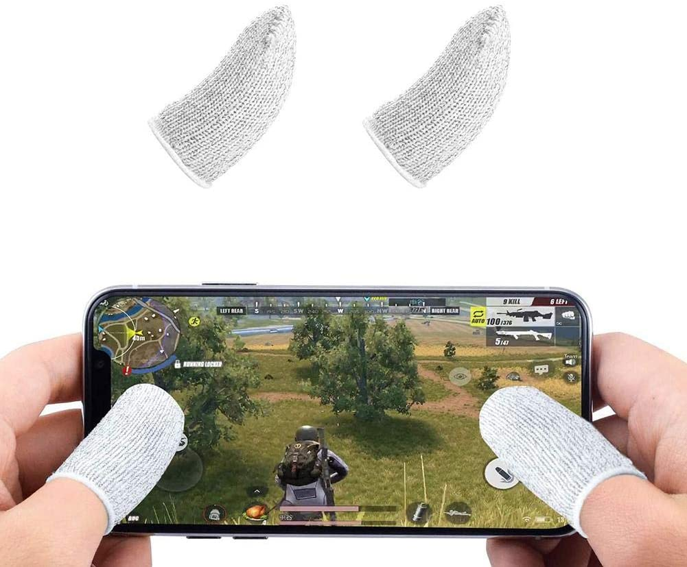 Mobile Game Artifact Game Finger Cots Touch Screen Non-Slip and Sweat-Proof Finger Cots 1 Pair