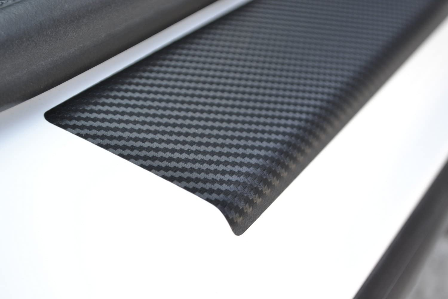 Door Sill Protector Film fit Subaru Forester 2013- Black Carbon Fiber Texture Decals Vinyl Wrap Scuff Protection Entry Guard 4 pcs Kit