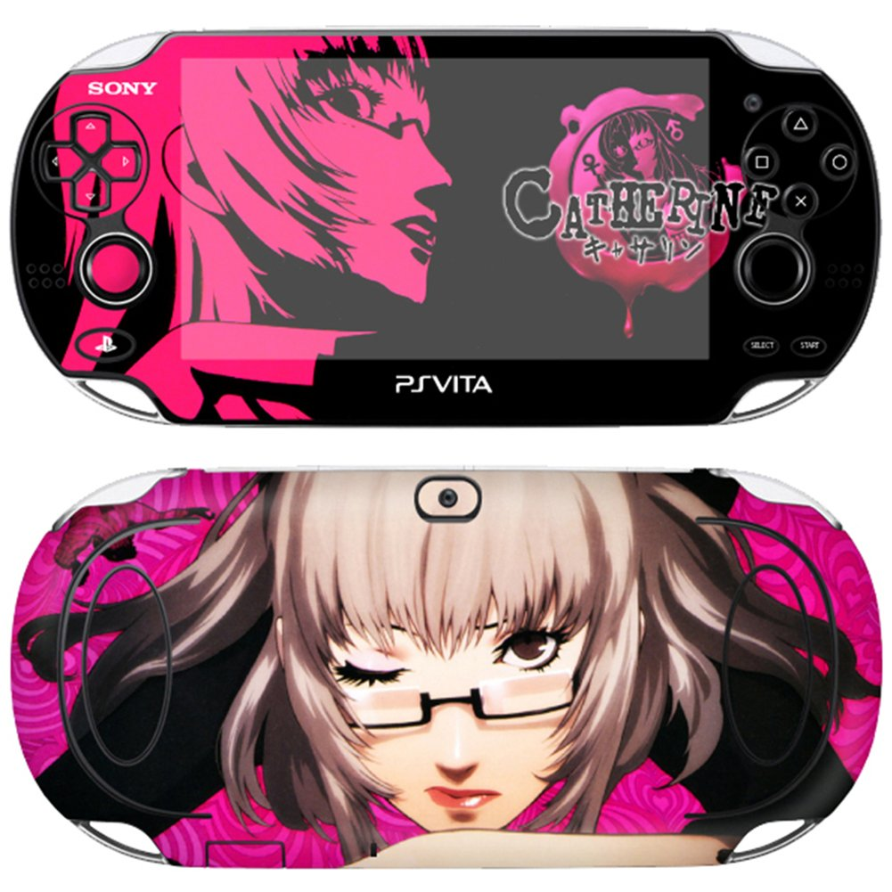 Premium Skin Decals Stickers For PlayStation VITA Slim 1st Generation PCH-1000 Series Consoles Korea Made - POP SKIN Catherine #07 + Free Gift Screen Protector Film + Wallpaper Image