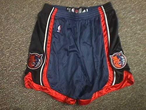Nazr Mohammed Charlotte Bobcats Orange Game Worn Shorts