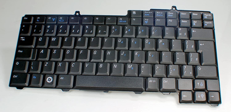 Dell New Genuine OEM Latitude D520 D530 Laptop Notebook Single Point K051125X Brazil TECLADO Portuguese 89 Black Key Keyboard Replacement MF903