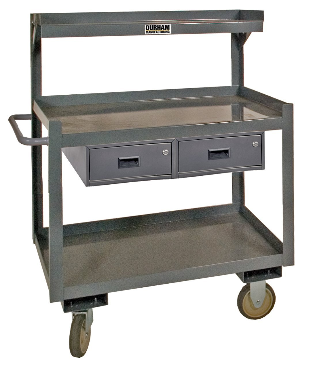 Durham 14 Gauge Steel Special Purpose Mobile Workstation with Drawer, PSD-2436-3-2D-95, 1200 lbs Capacity, 24