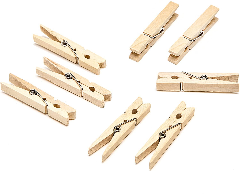 Darice Natural, 1 7/8 inch Clothespins Medium Size Clothepins, 30 Piece