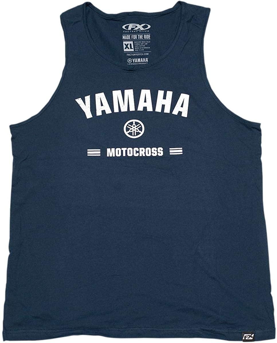 Factory Effex Yamaha Tank Top Navy (Blue, Large)