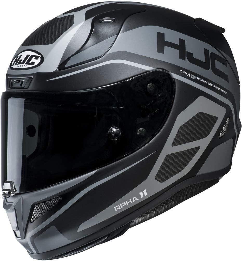 HJC RPHA-11-Pro Saravo Helmet - [FREE SMOKE SHIELD] - Grey - Small