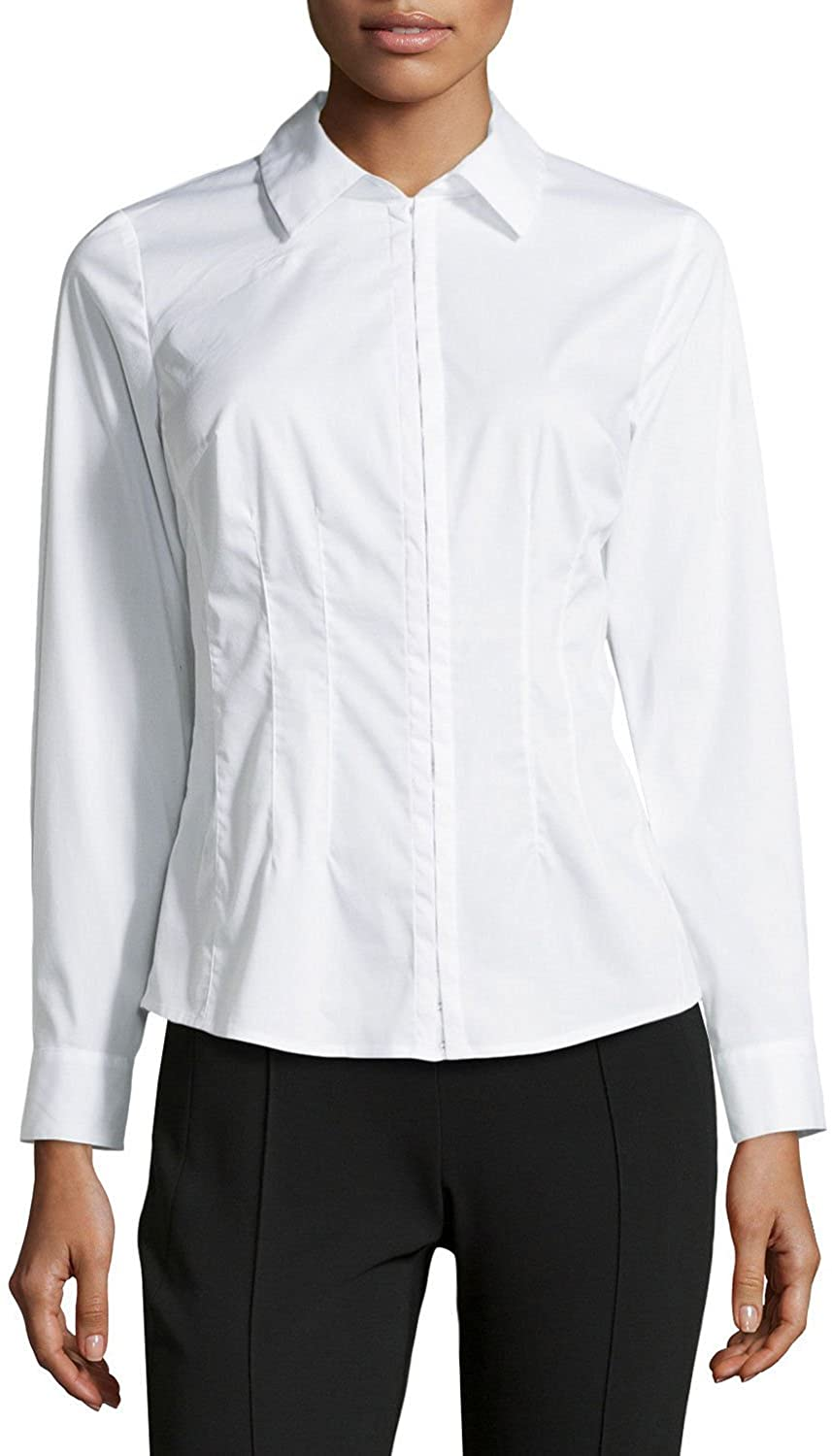 Laundry By Shelli Segal Womens's Fitted Blouse Optic White