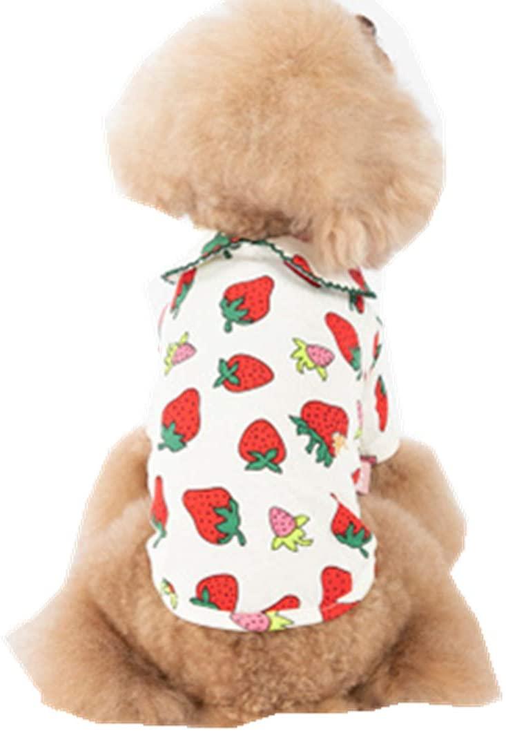 XiangYue SISAVE Puppy Dog Thin Cute Strawberry Printed Skirt Dress