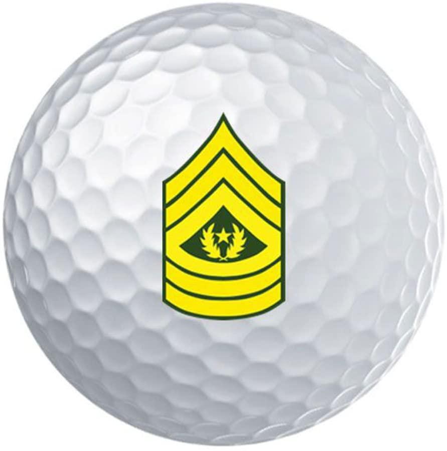 USAMM Army E-9 Command Sergeant Major Rank White Golf Ball Gift Set of 3