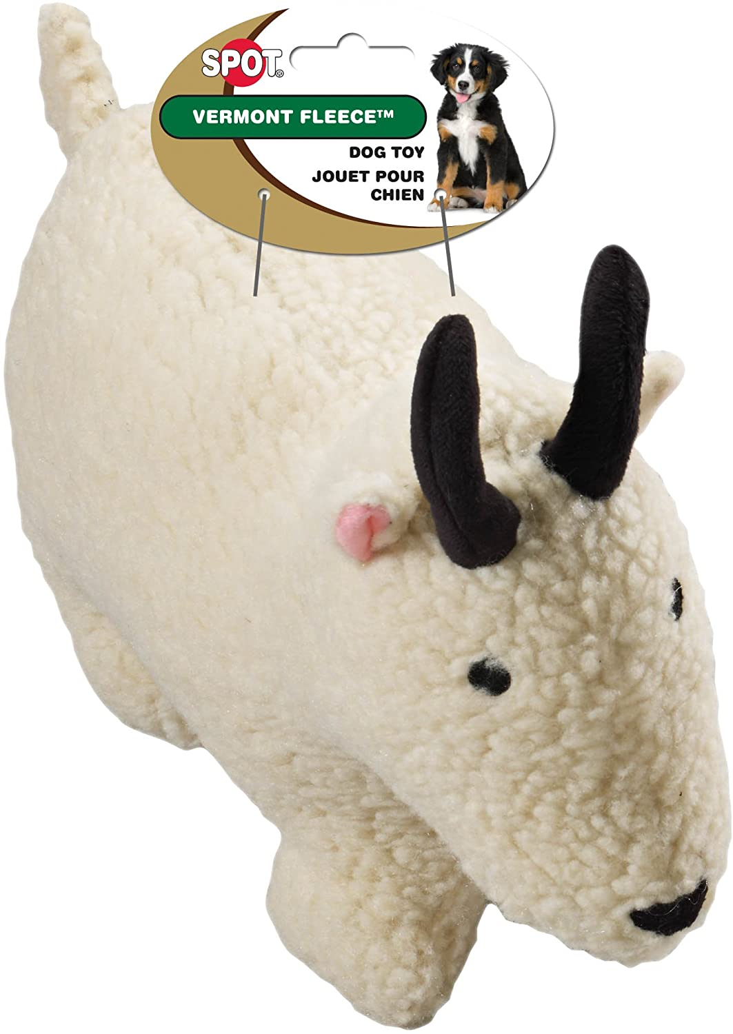 Ethical Pet Vermont Fleece Dog Toy, 9-Inch, Farmyard Animal, Assorted