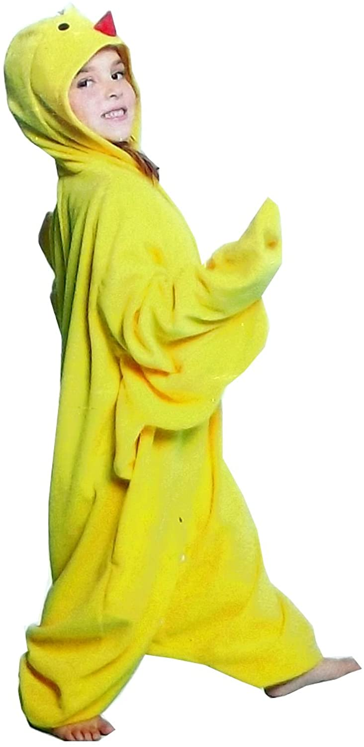 QT Comfy Costume Evolution Unisex Youth Chicken Onesie, One Size Yellow