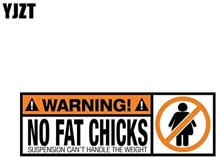 Tuavit carMagnet 18.8CM6.3CM Warning PVC Funny Decal Warning No Fat Chicks Car Sticker 12-0793