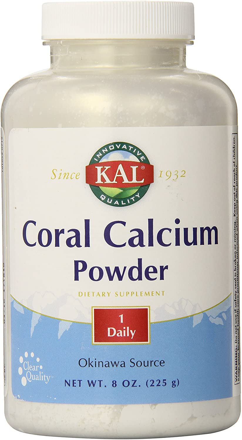 KAL Coral Calcium Powder 1000 mg Tablets, Unflavored, 8 Ounce