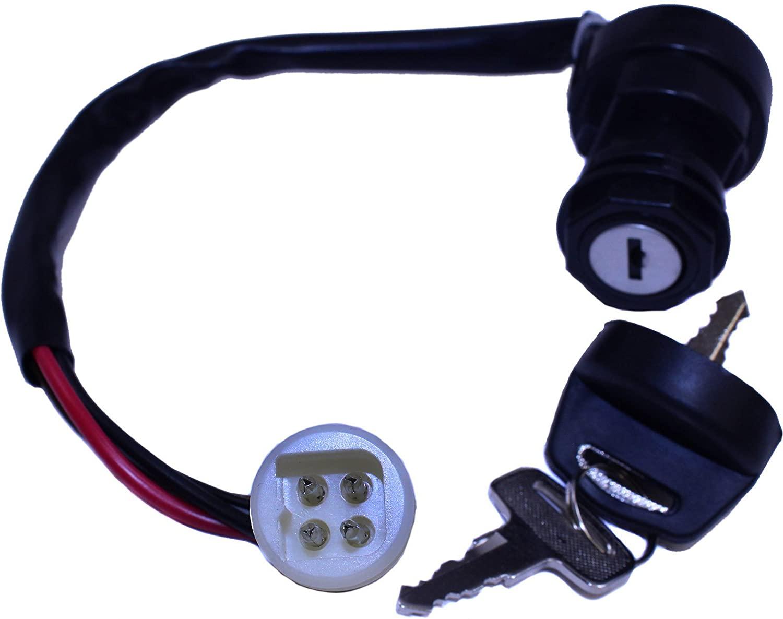 Ignition Key Switch Replaces Yamaha OEM 2FJ-82510-00-00 59V-82510-01-00