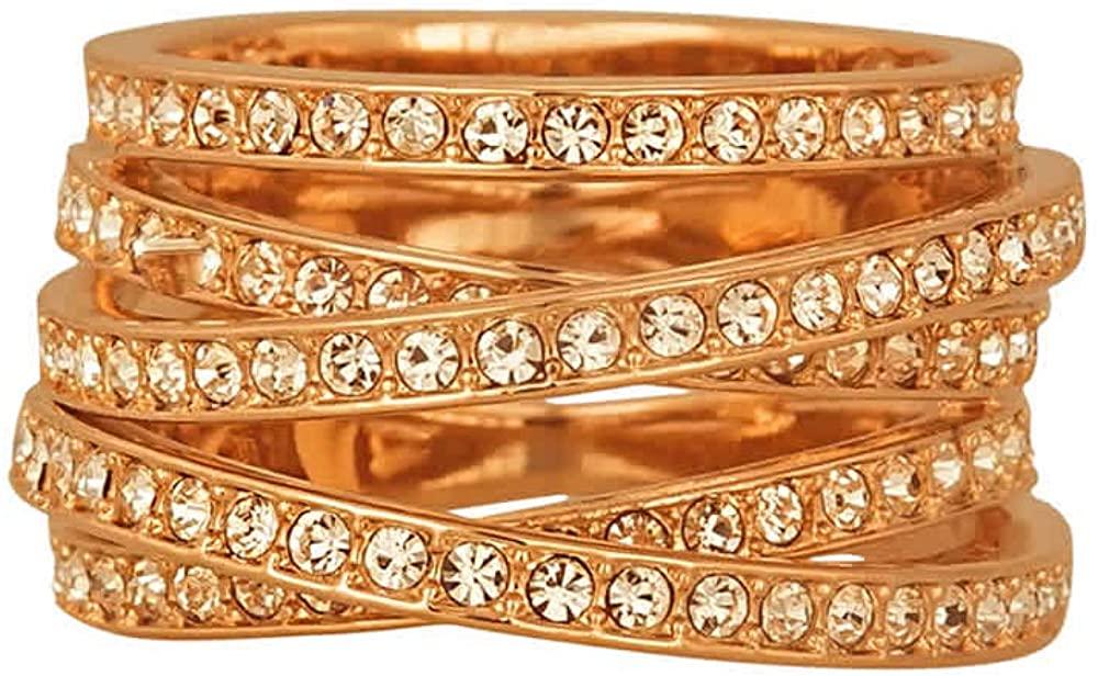 Swarovski Spiral Ring Rose Gold-Plated Size 8.5 - 5063925