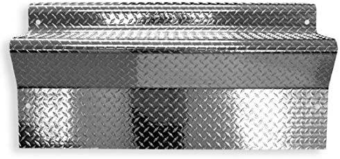 45 Inch Aluminum Diamond Plate Battery Box Cover Fits Kenworth W900 & AeroCab
