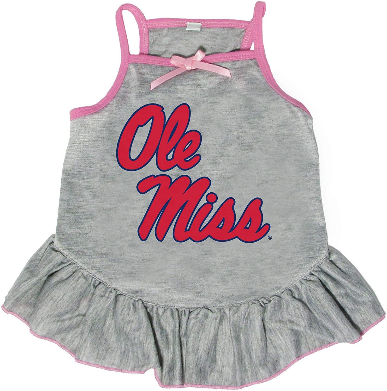 Littlearth NCAA Mississippi Ole Miss Rebels Pet Dress, Medium