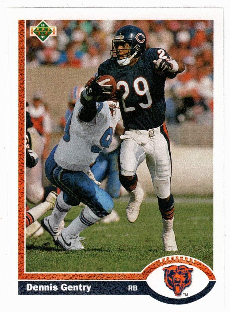 Dennis Gentry - Chicago Bears (Football Card) 1991 Upper Deck # 227 Mint