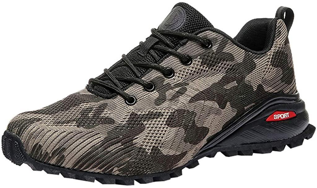 Fheaven Mesh Sneakers Men,Autumn Light Breathable Shoes Anti-Slip Wear-Resistant Ankle Boots Sports Shoes