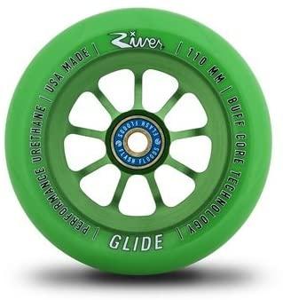 River Glide Wheels 110mm Emerald Green (Pair)