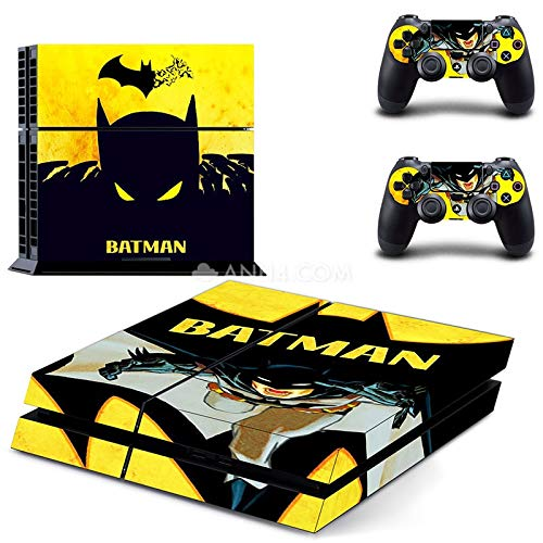 Playstation 4 Skin Set - Bat Hero HD Printing Vinyl Skin Cover Protective for PS4 Console and 2 PS4 Controller by Mr Wonderful Skin
