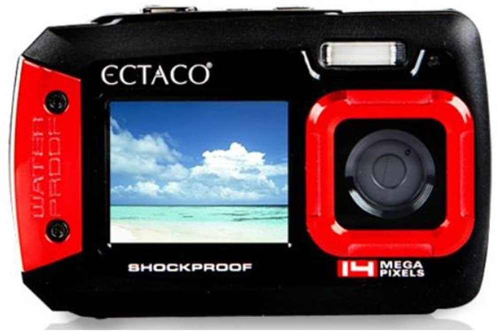 Underwater Shockproof Digital Camera & Video Camera w/Dual Full-Color LCD Displays - Fully Waterproof