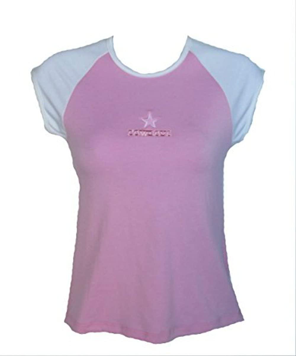 Women s Small Team Logo Sleeveless Shirt  Pink  White