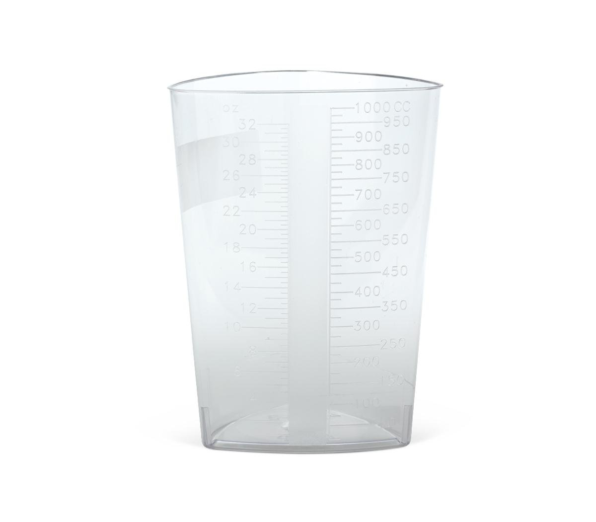 Medline DYND80416 Graduated Triangular Intake/Output Containers, Clear, 32 oz (Pack of 200)