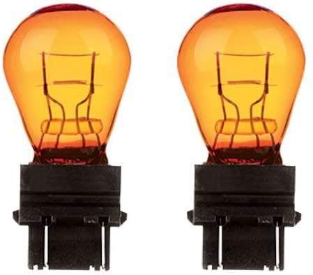 CEC Industries #3457NA (Amber) Bulbs, 12.8/14 V, 28.16/8.26 W, W2.5x16q Base, S-8 shape (2-pack) …