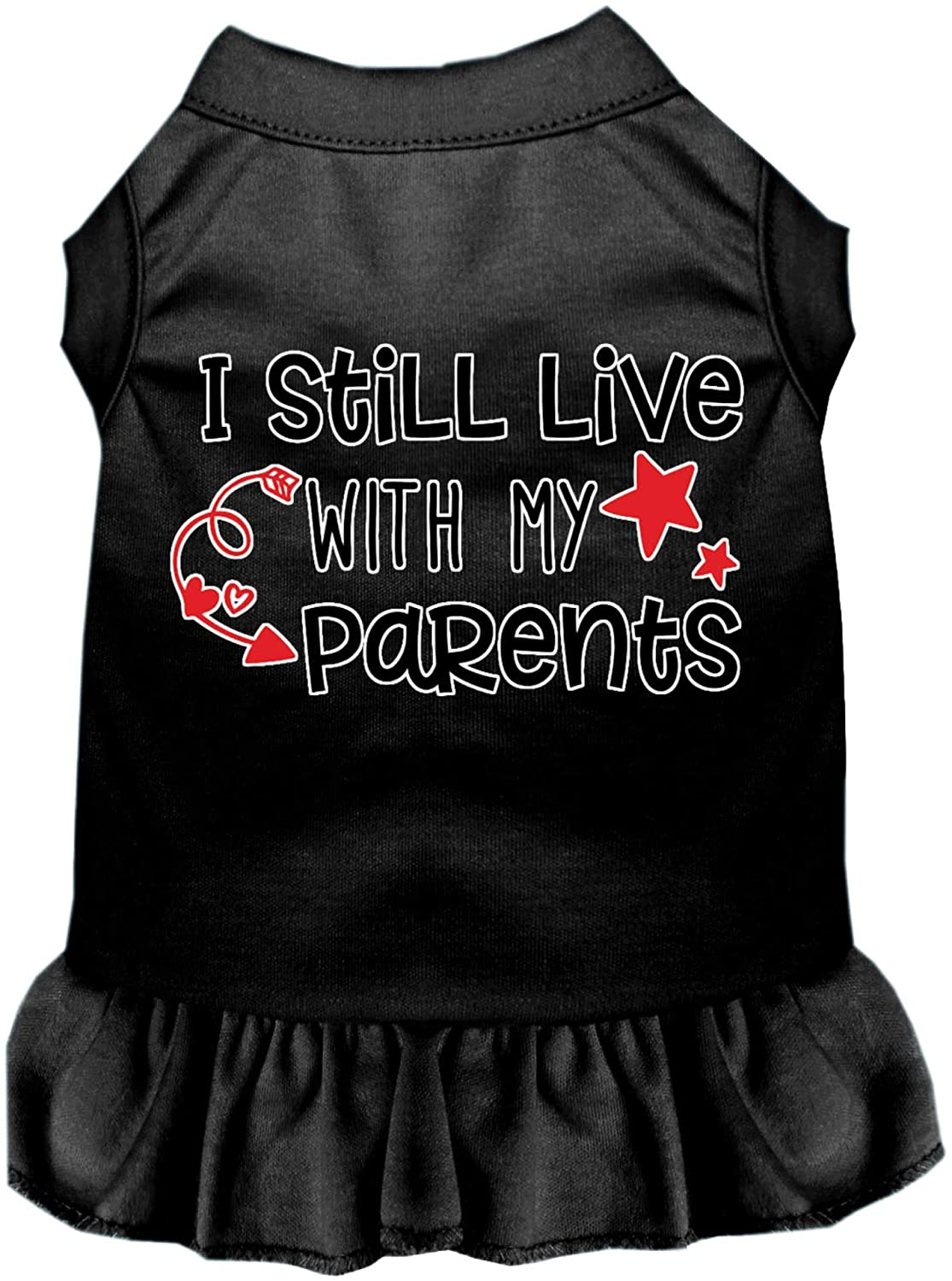 Mirage Pet Product Still Live with My Parents Screen Print Dog Dress Black XXXL (20)