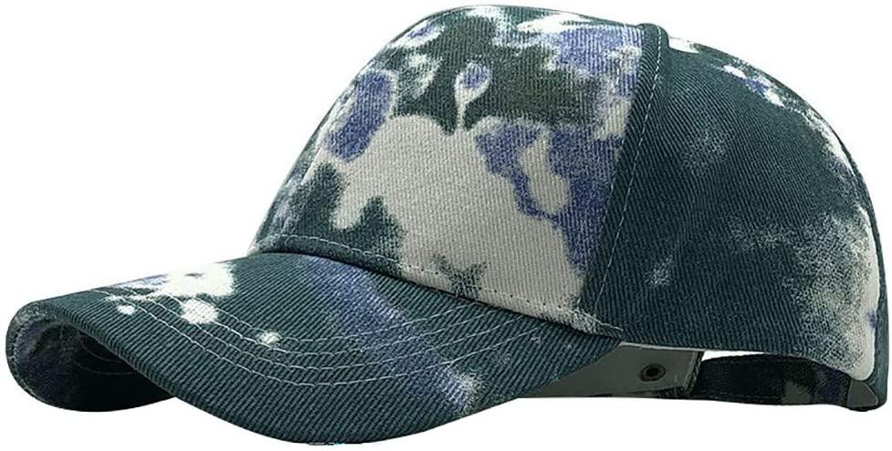 Kiyotoo Women's Tie-Dye Dad Hat, Adjustable Vintage Washed Cotton Baseball Cap Breathable Sports Cap Summer Cap Male Outdoor Mesh