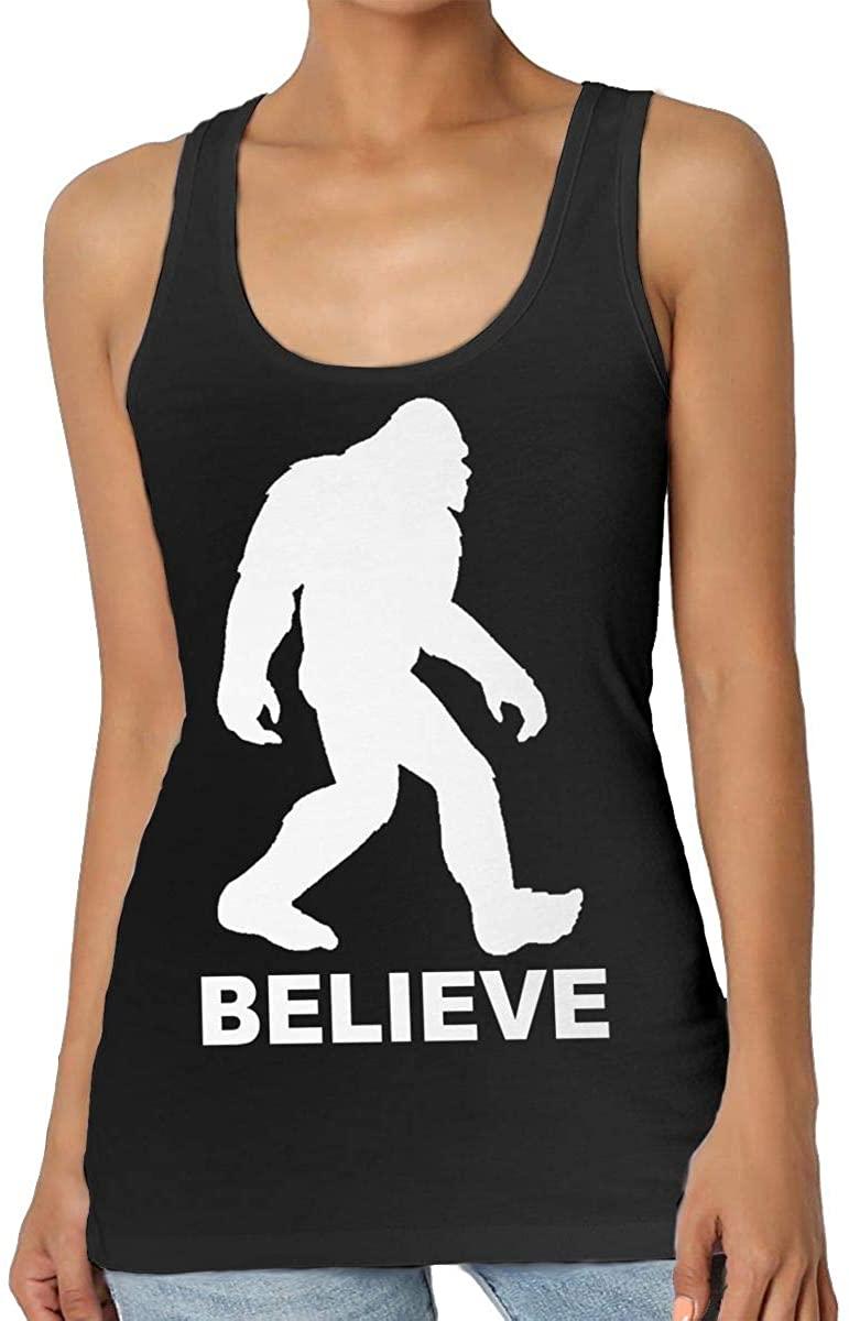 Yongchuang Feng Bigfoot Sasquatch Believe Women's Tank Top T-Shirt Fashion Sleeveless Vest