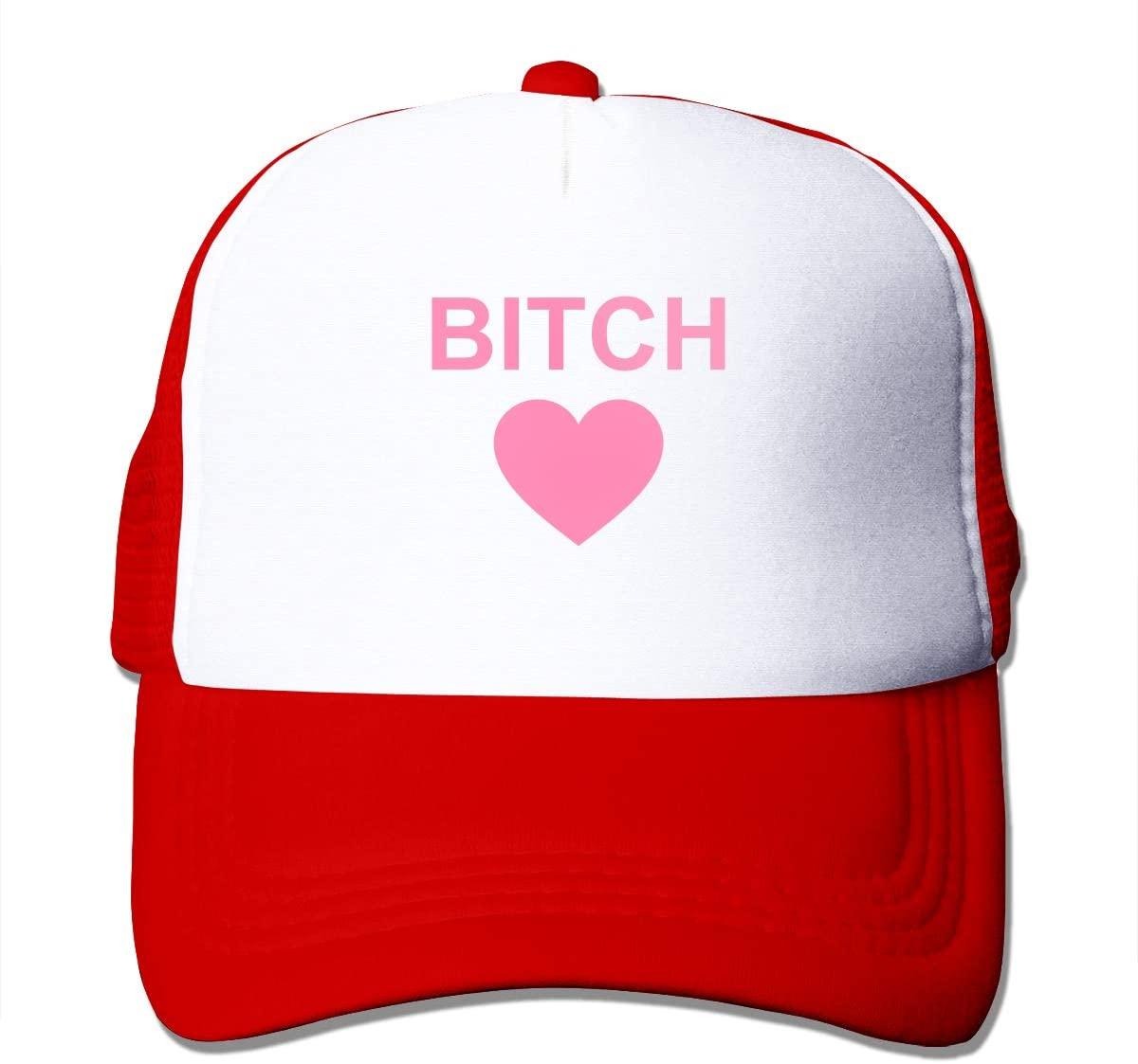 Adult Trucker Hat Bitch Heart Custom Mesh Caps