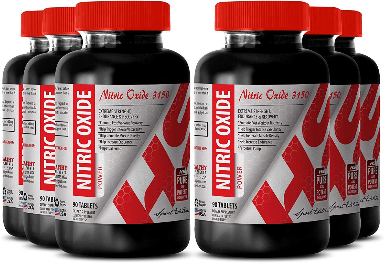 Nitric Oxide Women - 3150 MG Premium Nitric Oxide Power - Support Sex Life (6 Bottles)