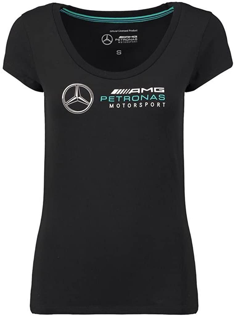 Mercedes Benz Petronas AMG Formula 1 Women's Black Team Logo T-Shirt F1
