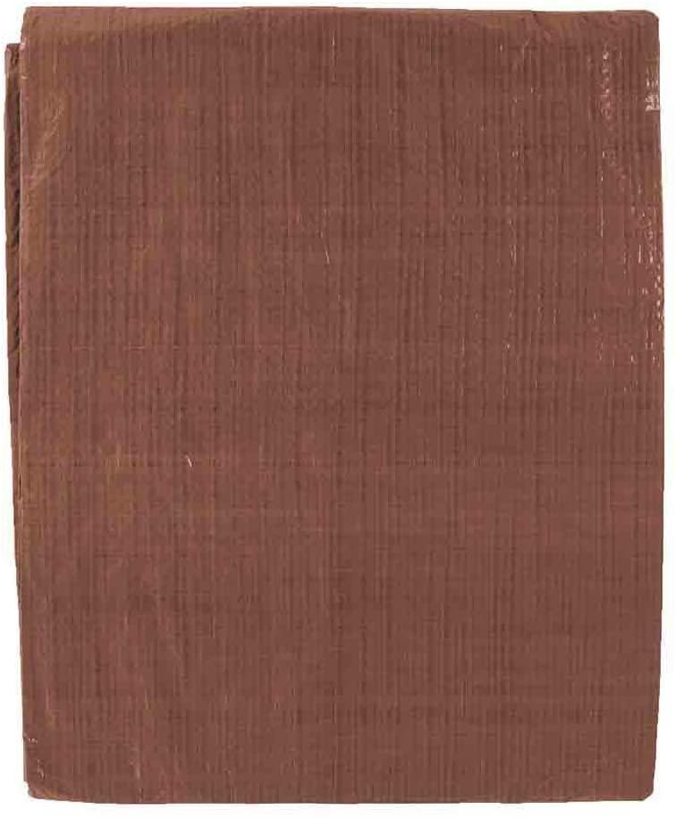 General Purpose Poly Tarp - 6 Feet x 8 Feet - (Brown)