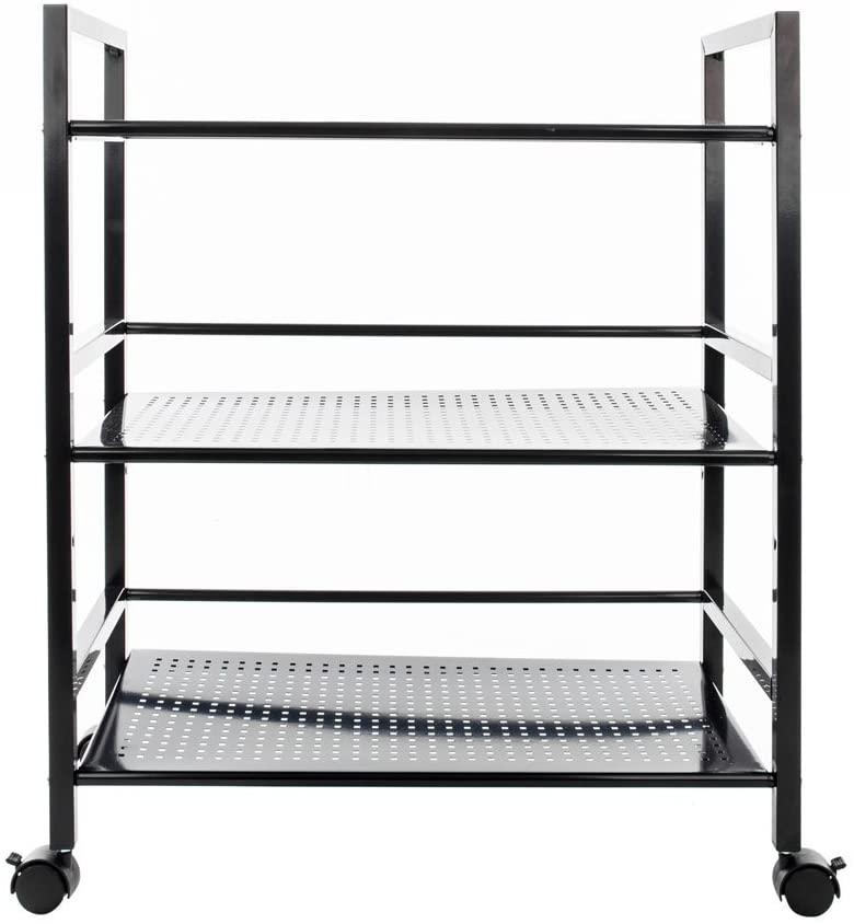 copylegend Widen 3 Tiers Multi-functional Storage Cart Black