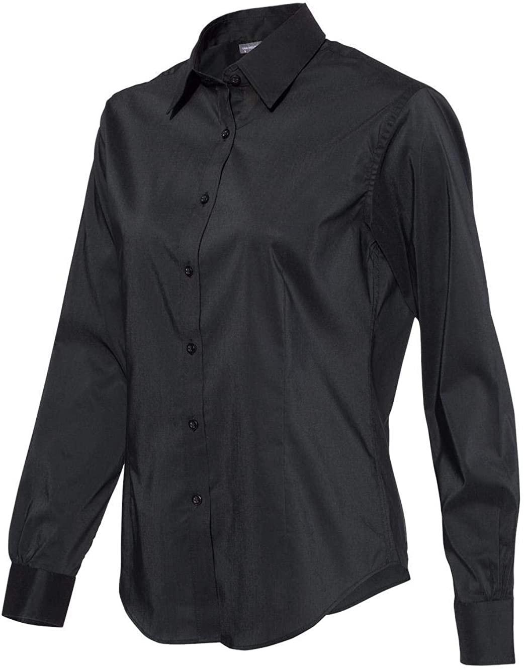 Van Heusen - Women's Stretch Spread Collar - 13V5050 - XL - Deep Black