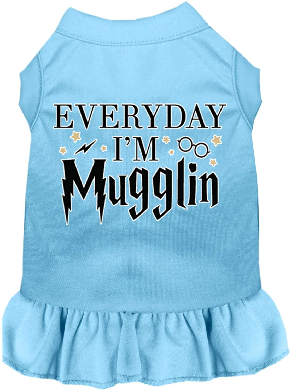 Mirage Pet Product Everyday Im Mugglin Screen Print Dog Dress Baby Blue XXXL (20)