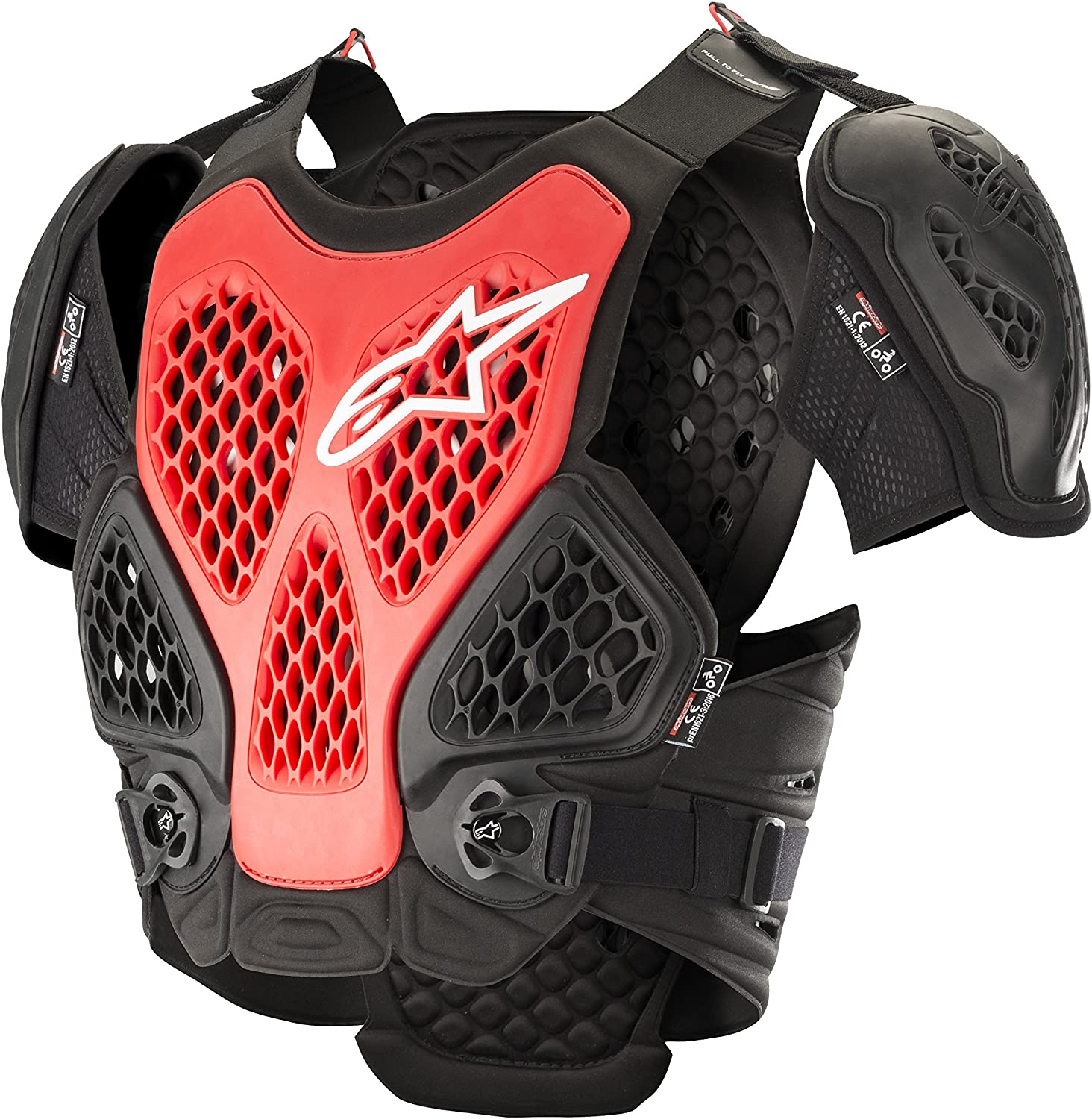 Alpinestars Bionic Motorcycle Chest Protector, Black/Red, Large/X-Large