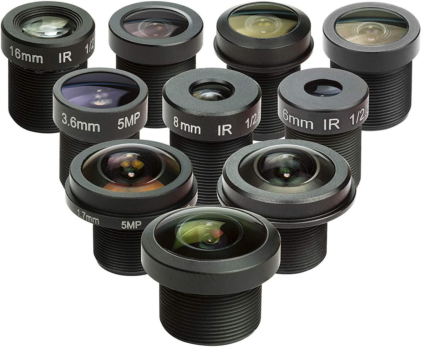 M12 Lens Set, Arducam Lens for Raspberry Pi Camera (1/4