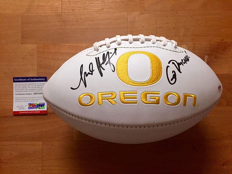 Mark Helfrich Signed Oregon Ducks Football Go Ducks! Coa - PSA/DNA Certified - Autographed College Footballs