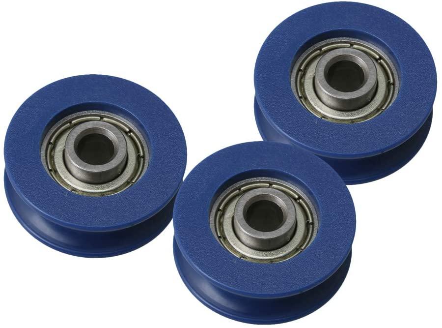 Mxfans 3pcs 5x25.5x8.5mm Bearing Pulley Rail Idler Wheel 10mm Width Groove