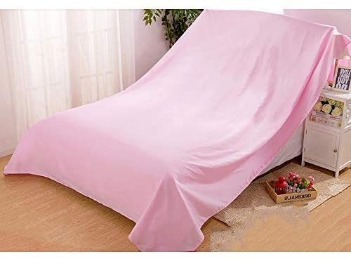 Solid Color Furniture Dust Cloth, Sofa Dust Cloth Cover Ash Cloth Bed Dust Cover Dust Cloth Large Cloth Cloth Gray Cloth Household (Color : Pink, Size : 200240cm)