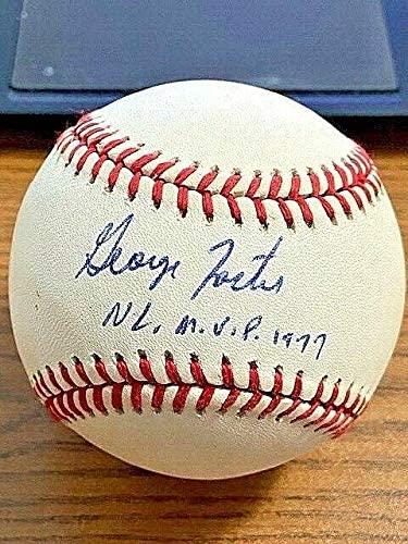 Signed George Foster Baseball - ONL ! Reds Giants ! - Autographed Baseballs