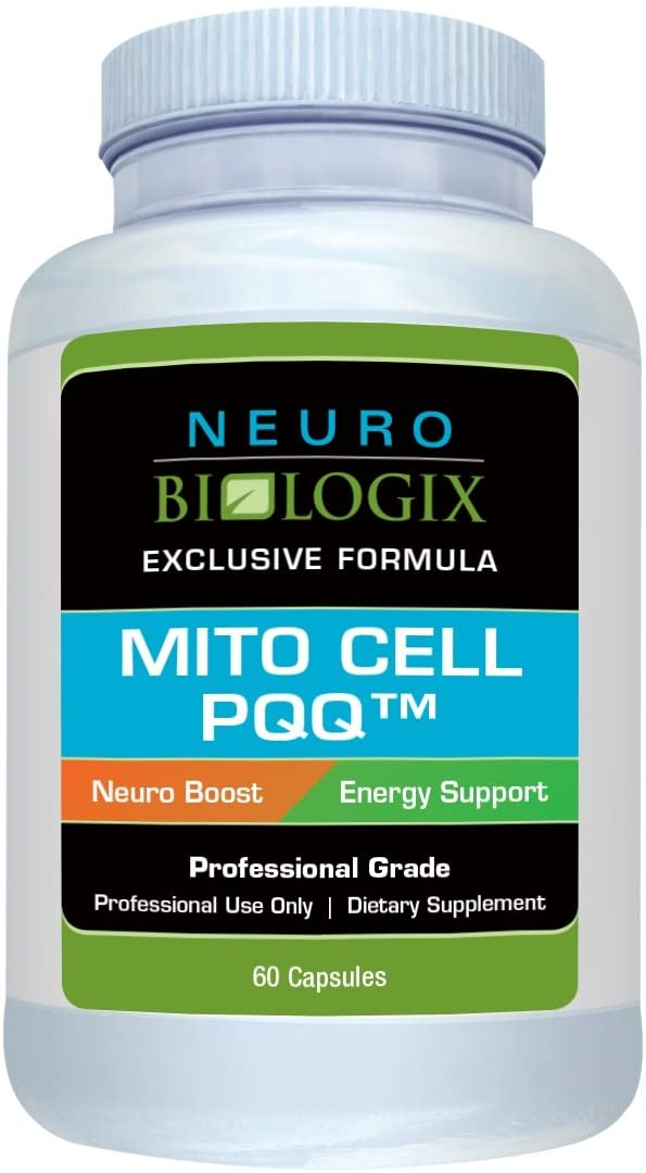 Neurobiologix Mito Cell PQQ Energy Supplements - Enhanced Concentration, Mitochondrial Function, Focus & Metabolism, Vegan & Gluten-Free -60 Capsules