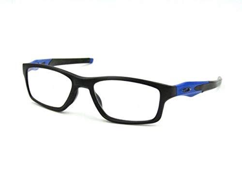 Oakley Crosslink 0.75mm Pb Leaded X-Ray Safety Radiation Protection Glasses (Satin Black w/Cobalt Blue Temples) | AR Anti-Reflective No Fog Lens