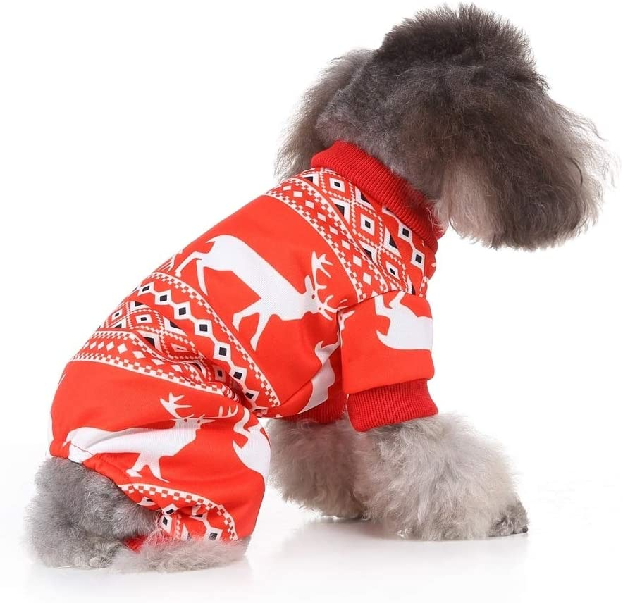 Pet Clothing Great Christmas Pet Clothes Personality Dress Up Pet Clothing, Size:L(SDZ76A Red) (Color : SDZ78 Red)