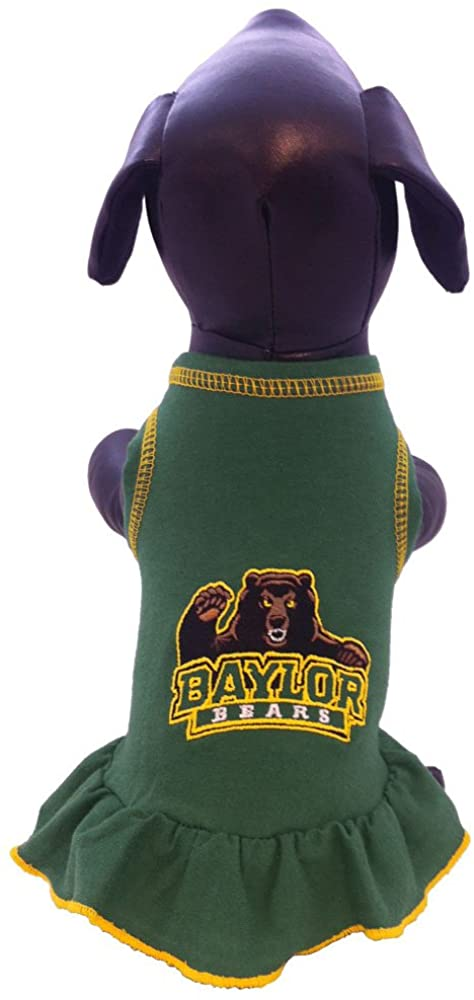 NCAA Baylor Bears Collegiate Cheerleader Dog Dress (X-Small)