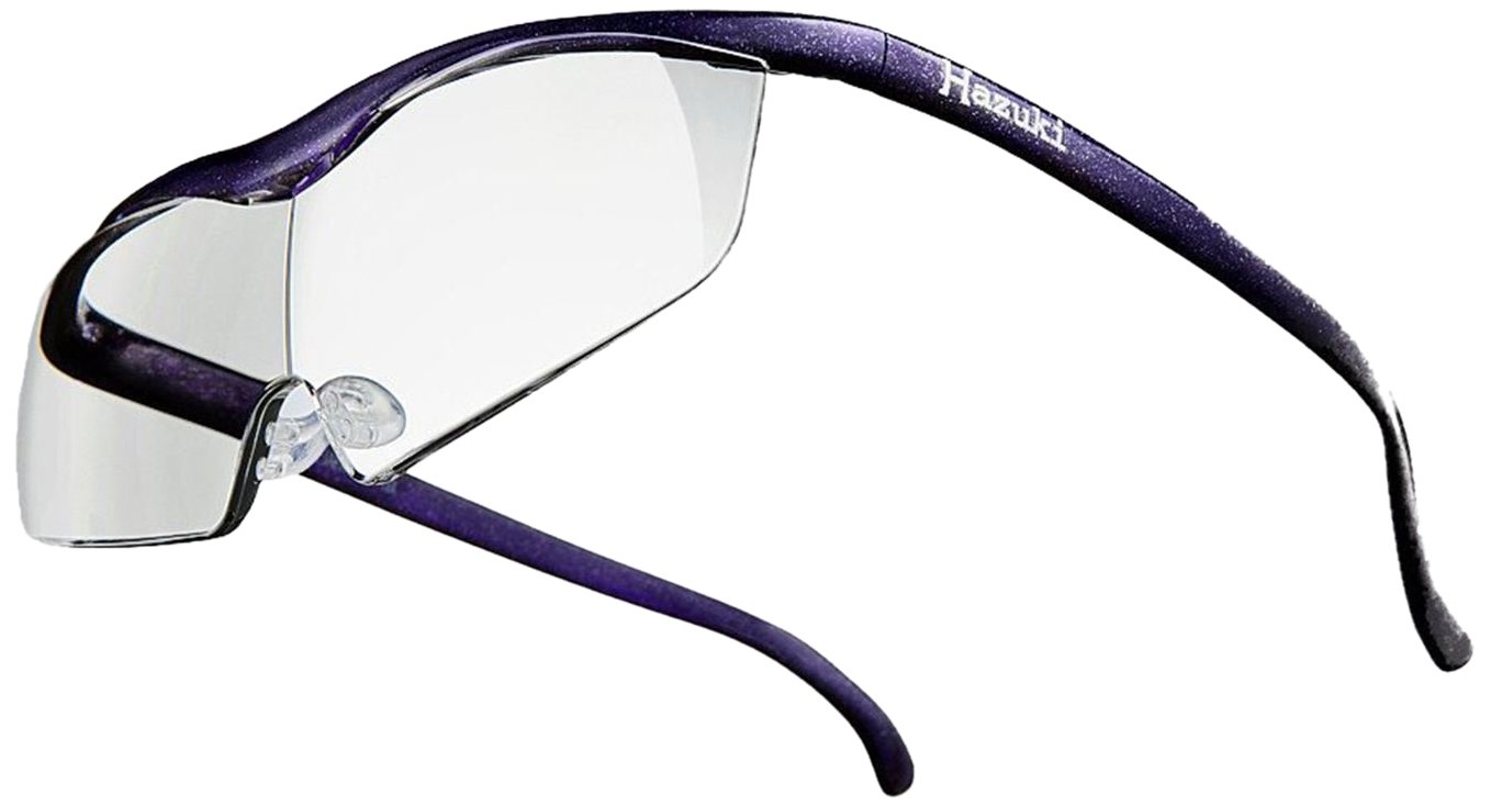 Hazuki Loupe Magnifier Large Clear Lens 1.6 X Blue Light 35% Cut (Purple)