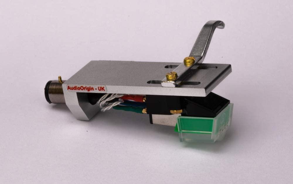 Headshell Cartridge Mount, Eliptical Stylus, Needle for Technics SL Q2, SL Q202, SL Q2K, SL Q3, SL Q303, SL Q33, SL Q33K, SL Q3K, SL H302, MADE IN ENGLAND